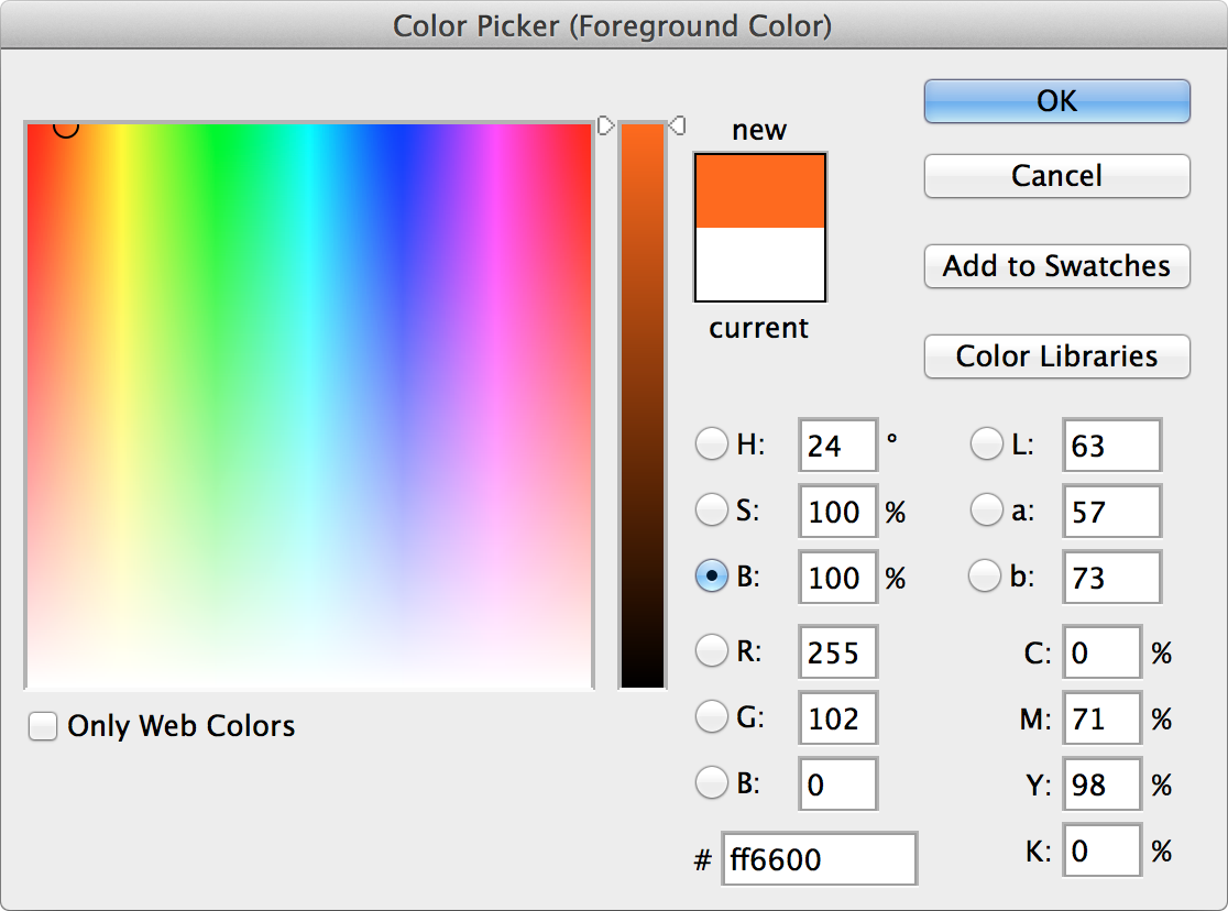 Adobe Photoshop Color Picker